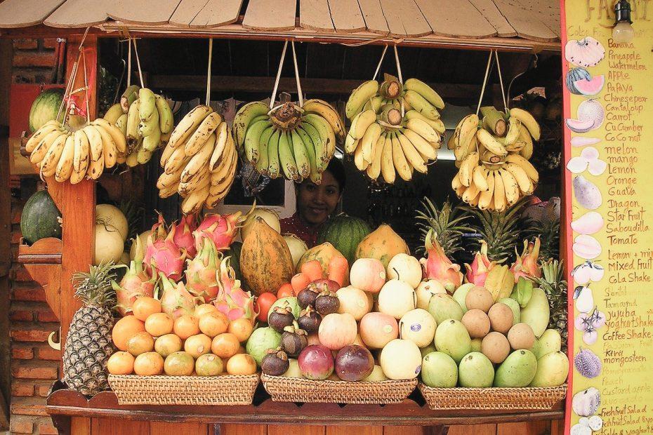 Obst exotische Früchte vegan in Thailand
